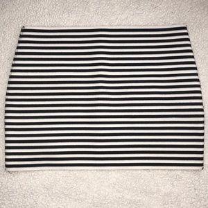 Striped Bodycon Miniskirt